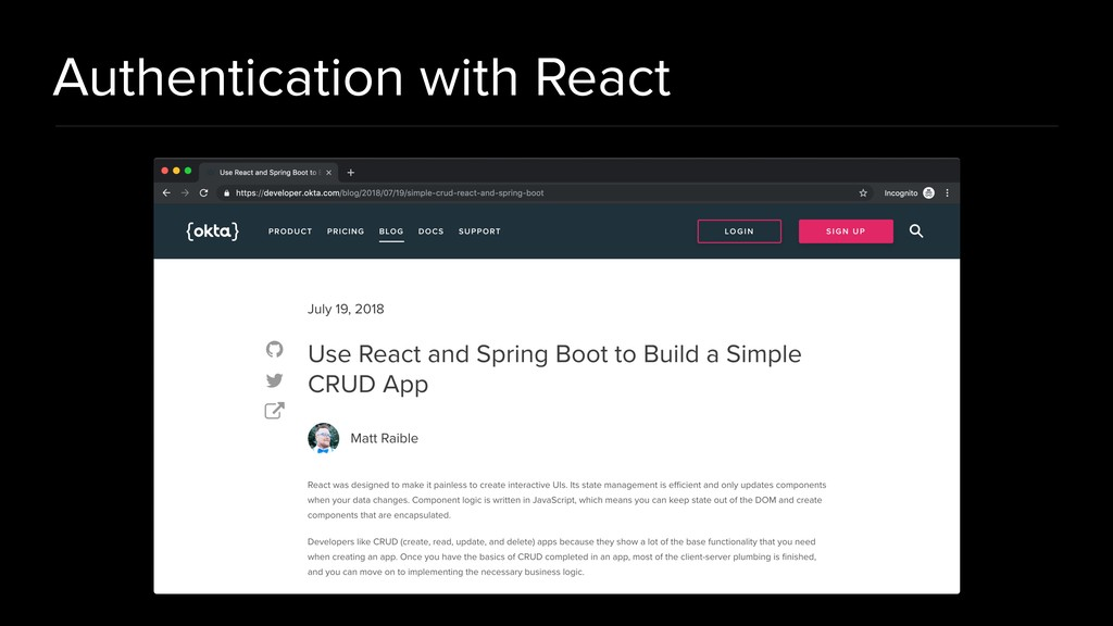 Authentication with React