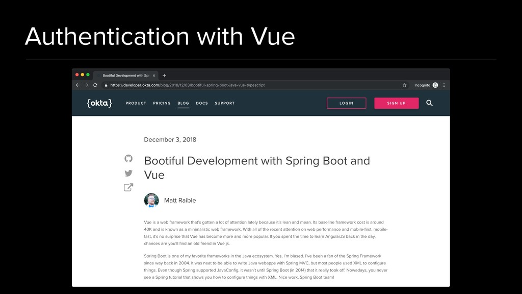 Authentication with Vue