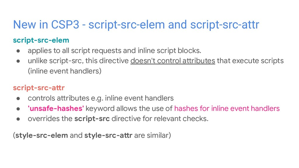 script-src-elem ● applies to all script request...