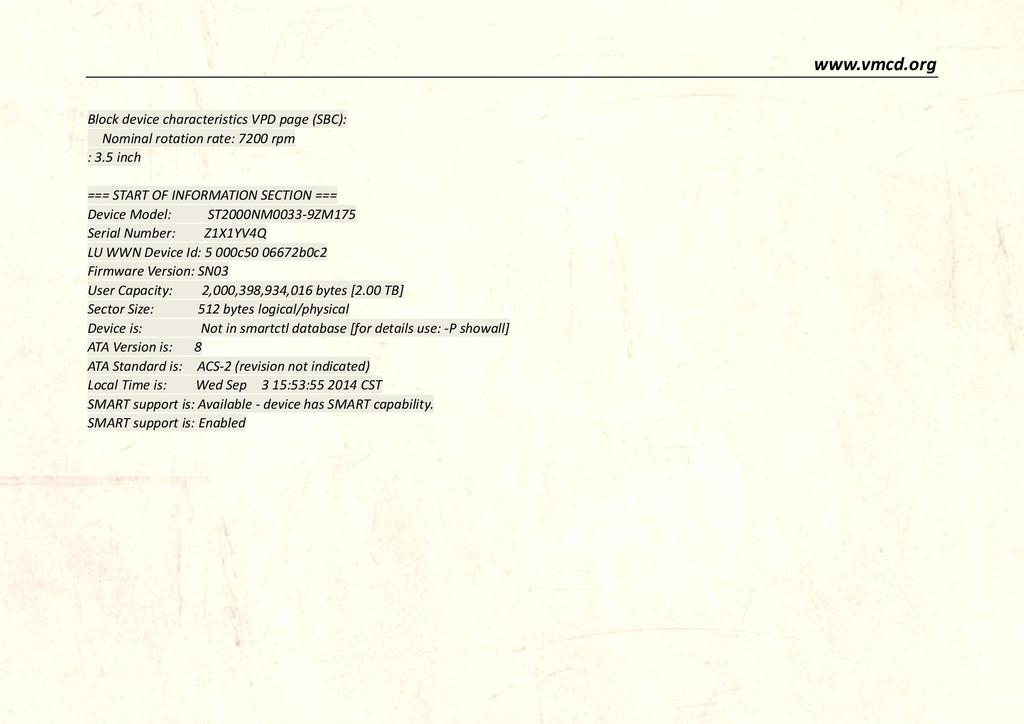 www.vmcd.org Block device characteristics VPD p...