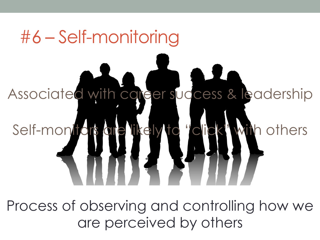 #6 – Self-monitoring Process of observing and c...