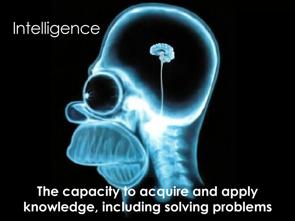 Intelligence The capacity to acquire and apply ...