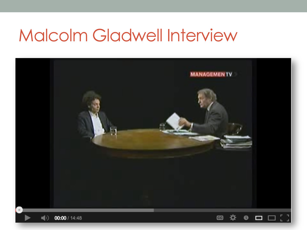Malcolm Gladwell Interview