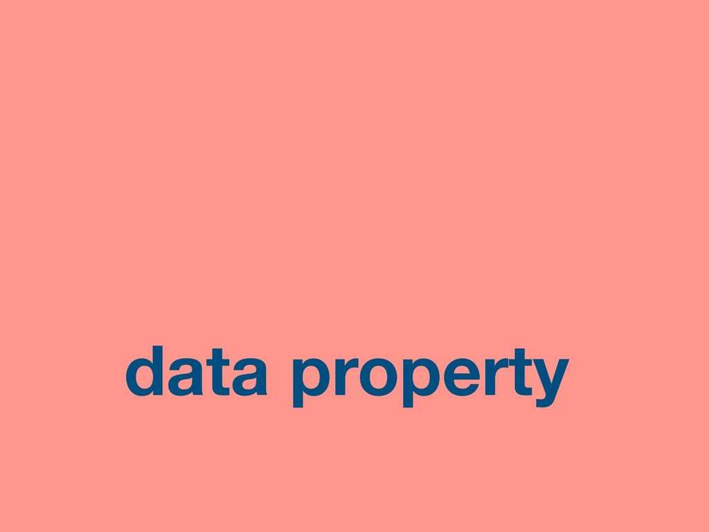 data property