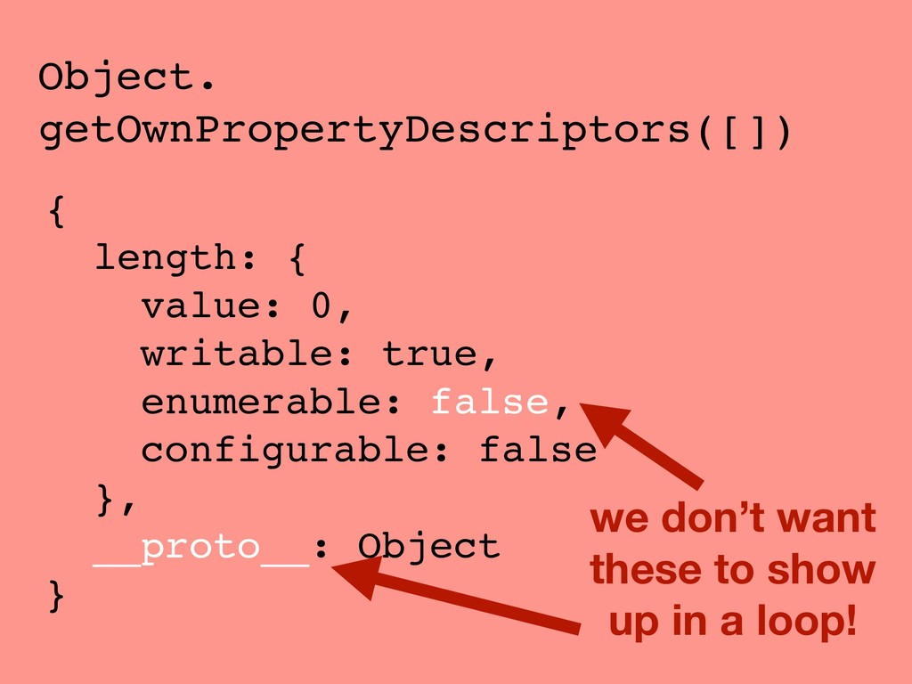 Object. getOwnPropertyDescriptors([]) { length:...