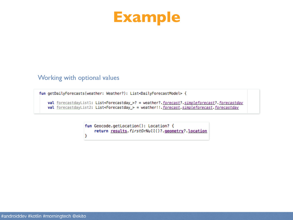 Example Working with optional values #androidde...