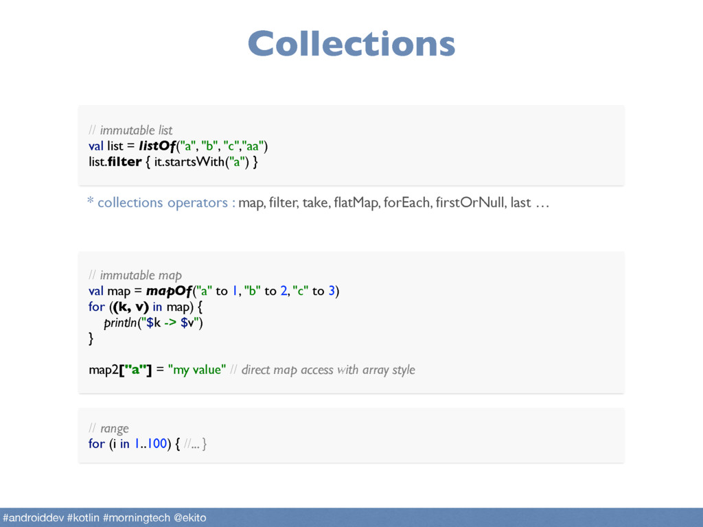 Collections // immutable map