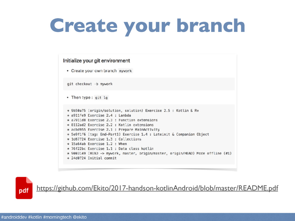 Create your branch #androiddev #kotlin #morning...