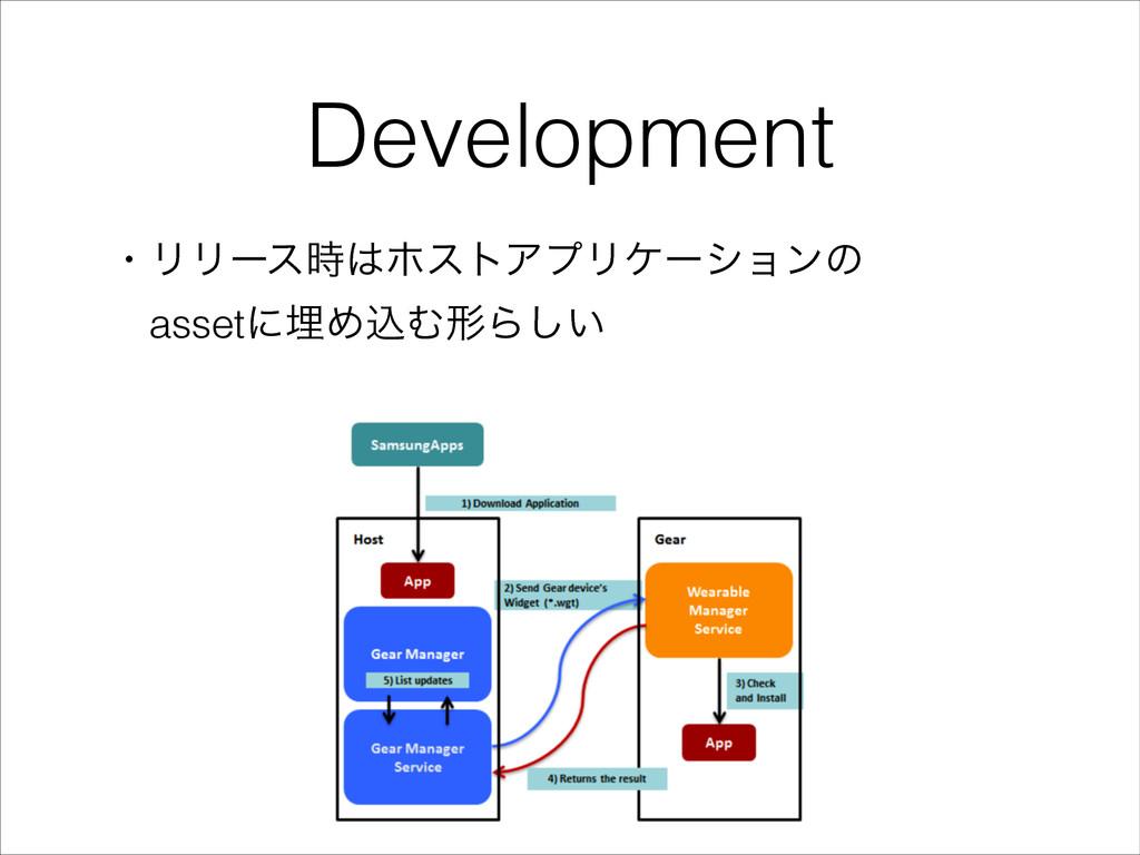 Development ɾϦϦʔεϗετΞϓϦέʔγϣϯͷ ɹassetʹຒΊࠐΉܗΒ͍͠