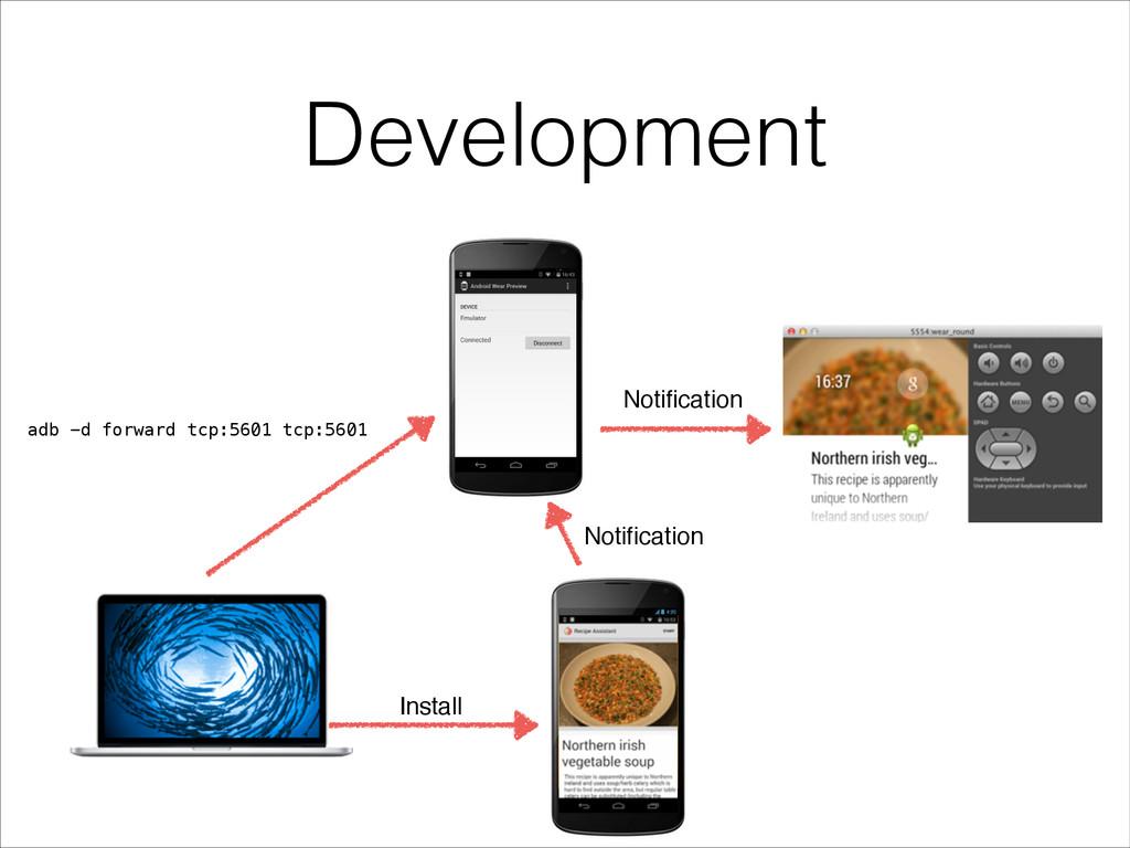 Development hello world! adb -d forward tcp:560...