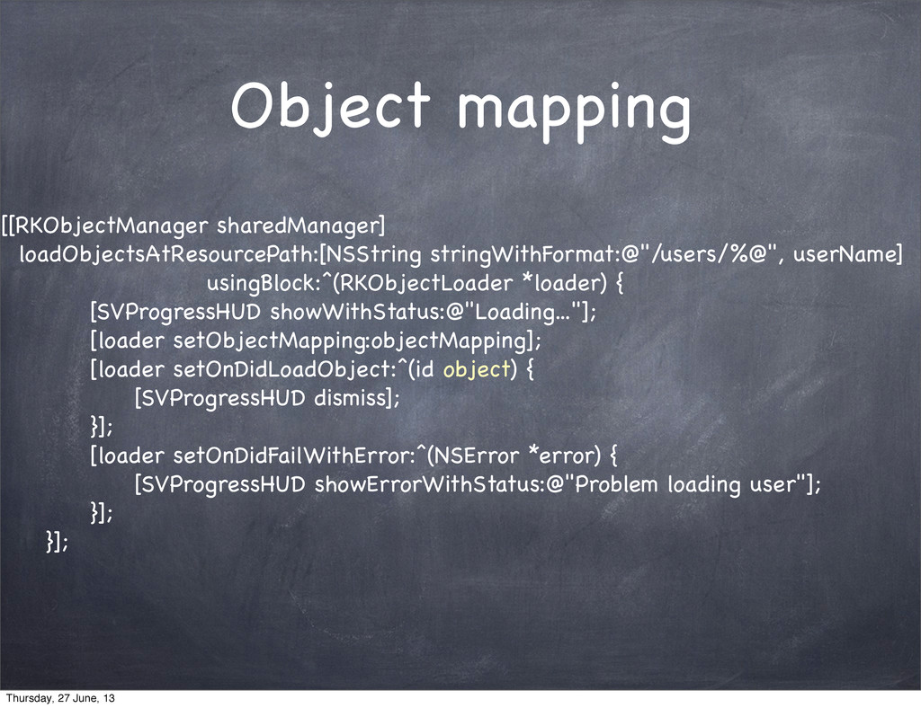 Object mapping [[RKObjectManager sharedManager]...