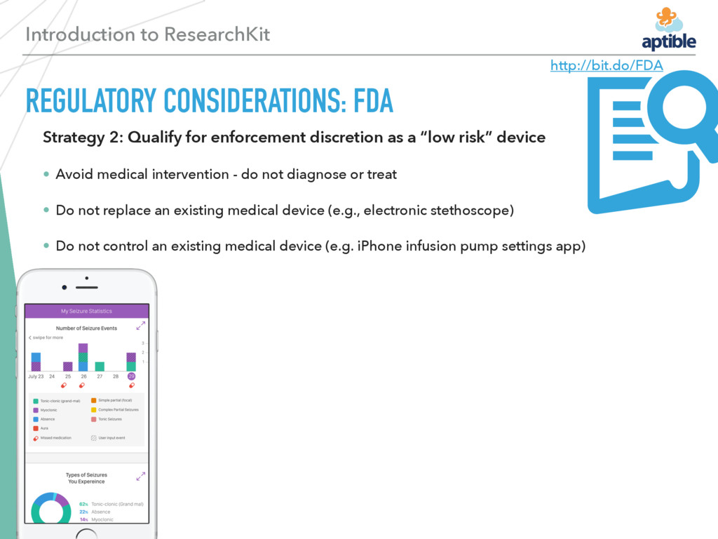 Introduction to ResearchKit REGULATORY CONSIDER...