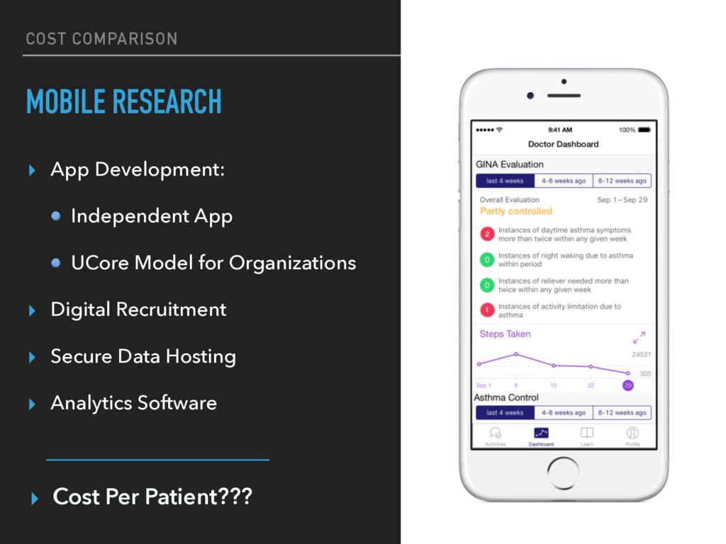 COST COMPARISON MOBILE RESEARCH ▸ App Developme...