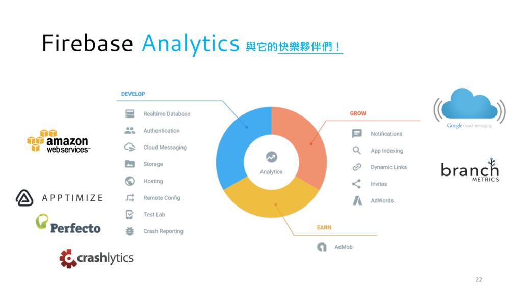 Firebase Analytics 與它的快樂夥伴們! 22
