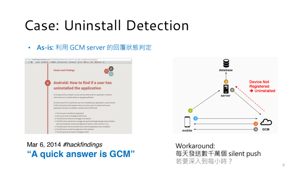 Case: Uninstall Detection Device Not Registered...