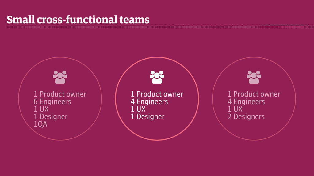 Small cross-functional teams & 1 Product owner ...