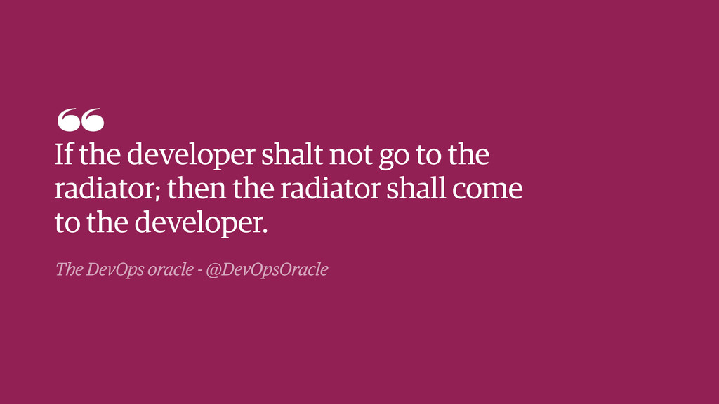 The DevOps oracle - @DevOpsOracle If the develo...