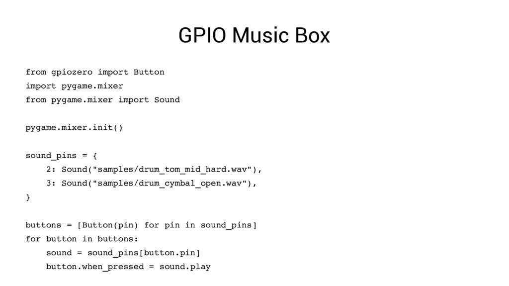 GPIO Music Box from gpiozero import Button impo...