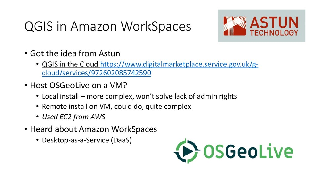 QGIS in Amazon WorkSpaces • Got the idea from A...