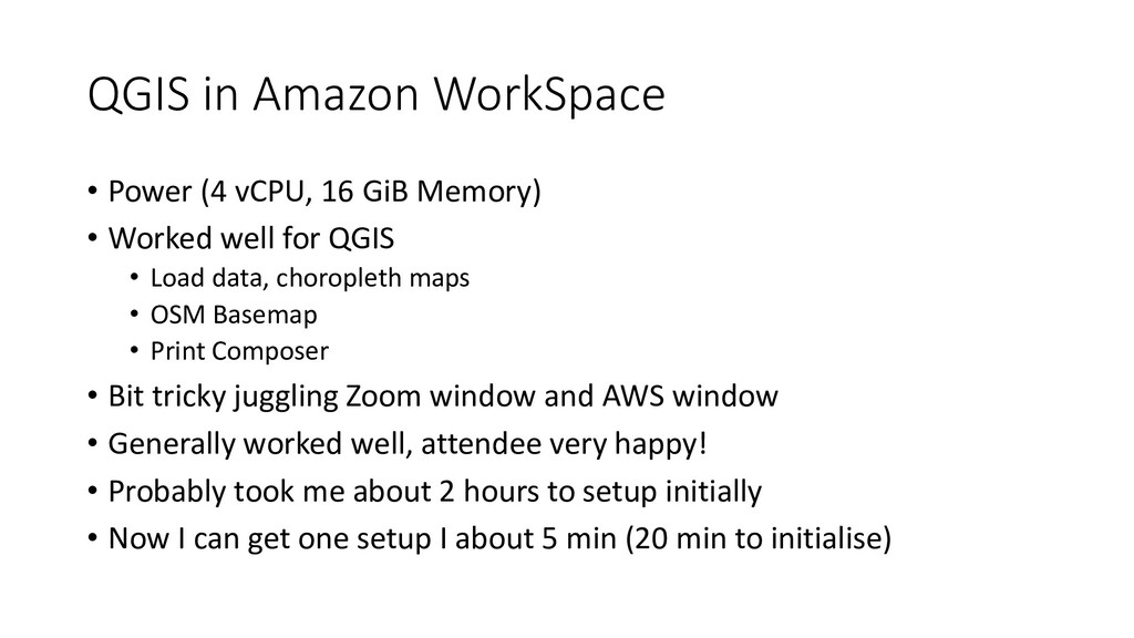QGIS in Amazon WorkSpace • Power (4 vCPU, 16 Gi...