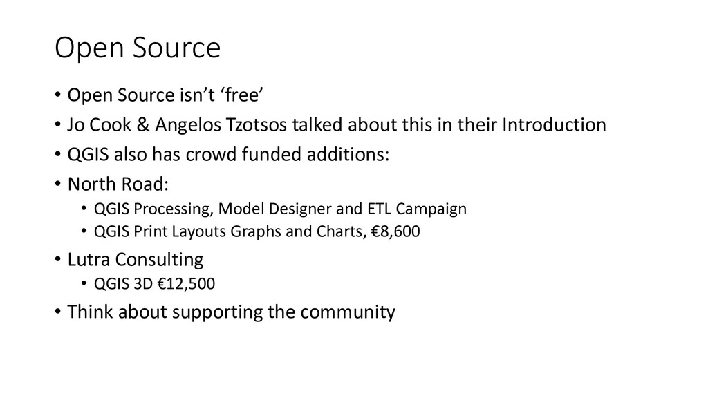 Open Source • Open Source isn't 'free' • Jo Coo...