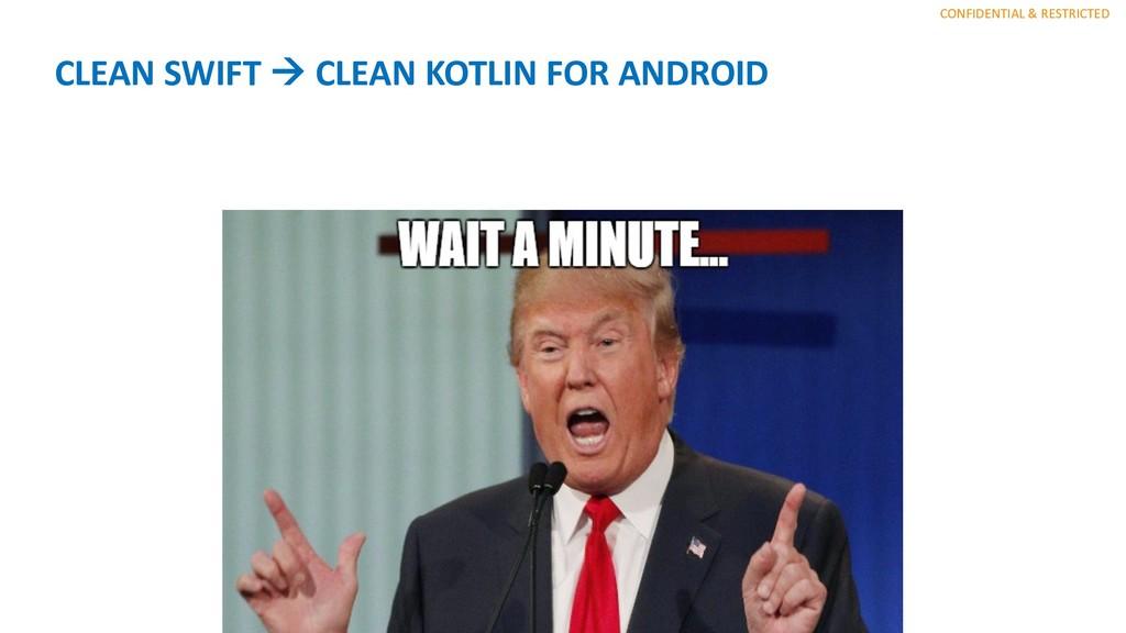 CONFIDENTIAL & RESTRICTED CLEAN SWIFT à CLEAN K...