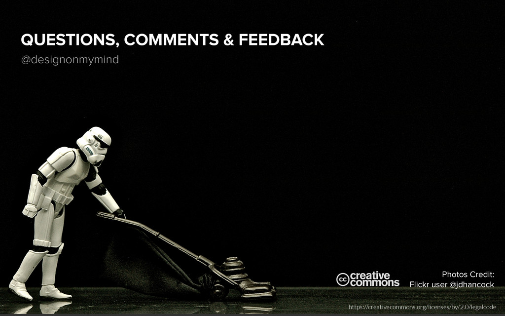 QUESTIONS, COMMENTS & FEEDBACK @designonmymind ...