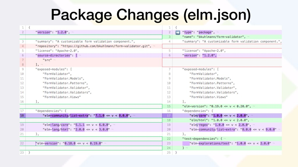 Package Changes (elm.json) ➡