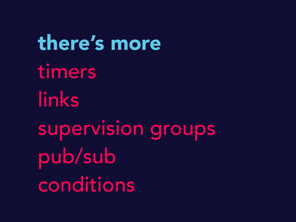 there's more timers links supervision groups pu...