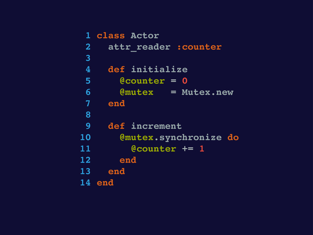 1 class Actor 2 attr_reader :counter 3 4 def in...