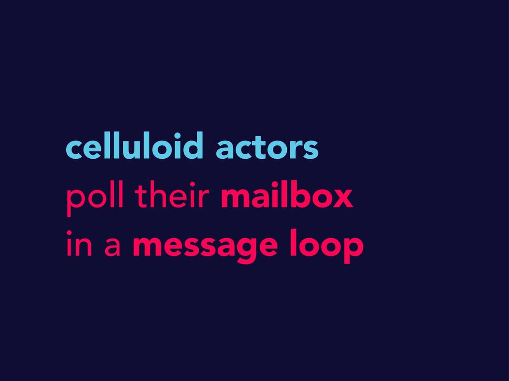 celluloid actors poll their mailbox in a messag...