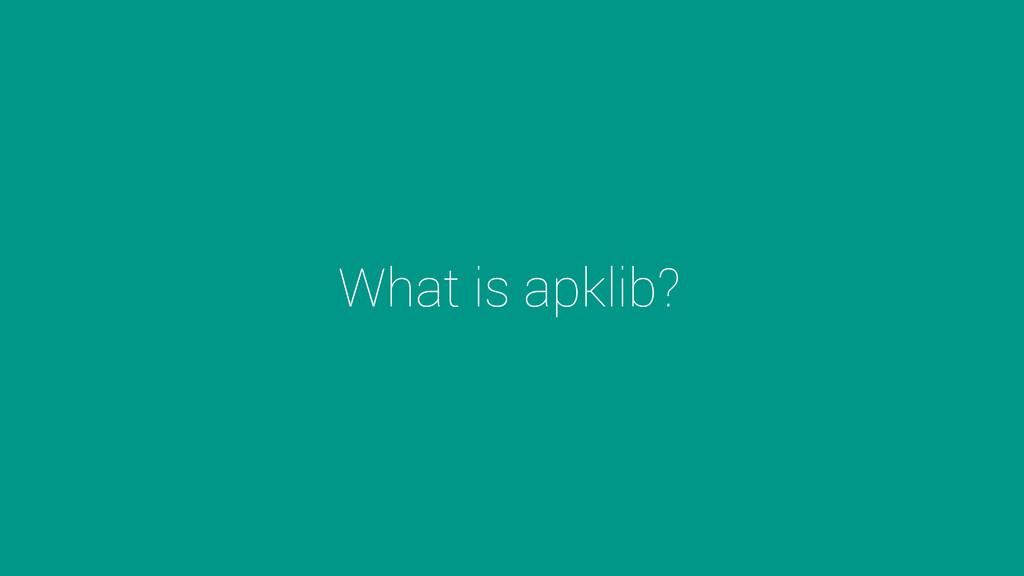 What is apklib?