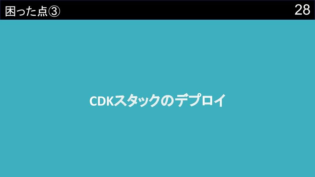 28 CDKスタックのデプロイ 困った点③