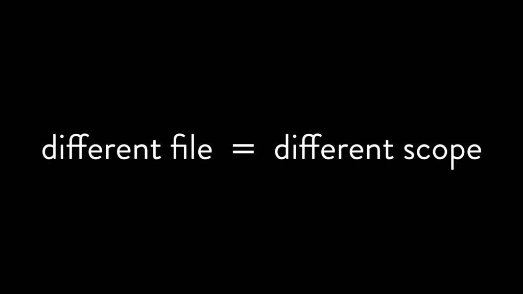 different file = different scope