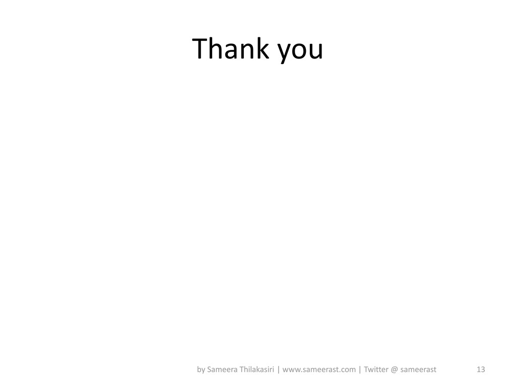 Thank you 13 by Sameera Thilakasiri | www.samee...