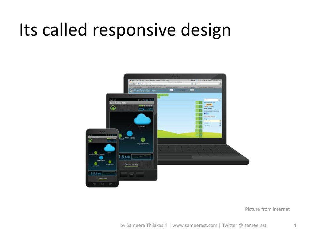 Its called responsive design 4 by Sameera Thila...