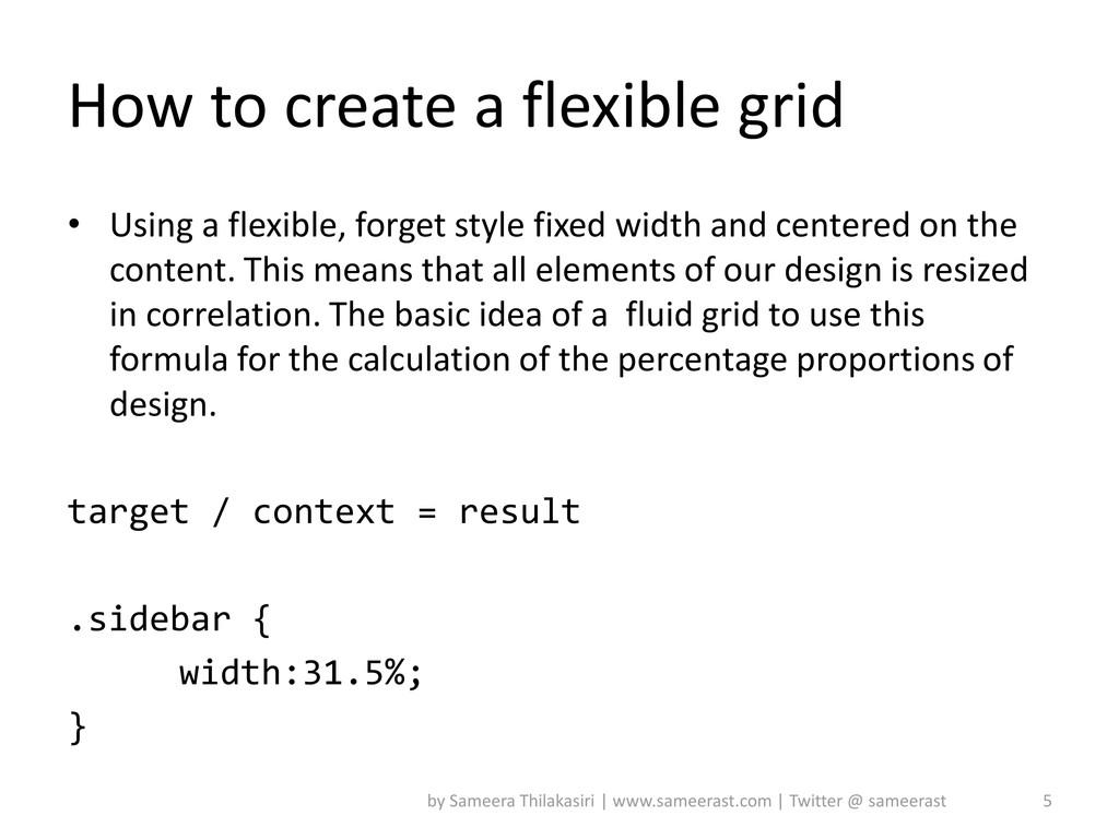 How to create a flexible grid • Using a flexibl...