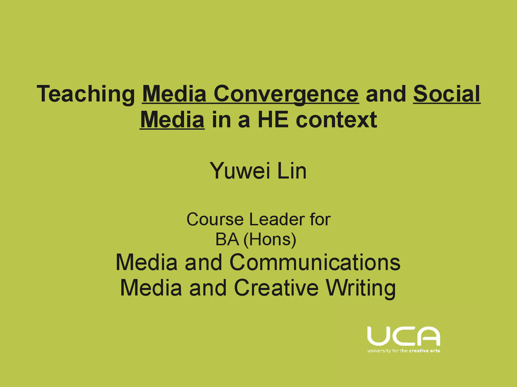 Teaching Media Convergence and Social Media in ...