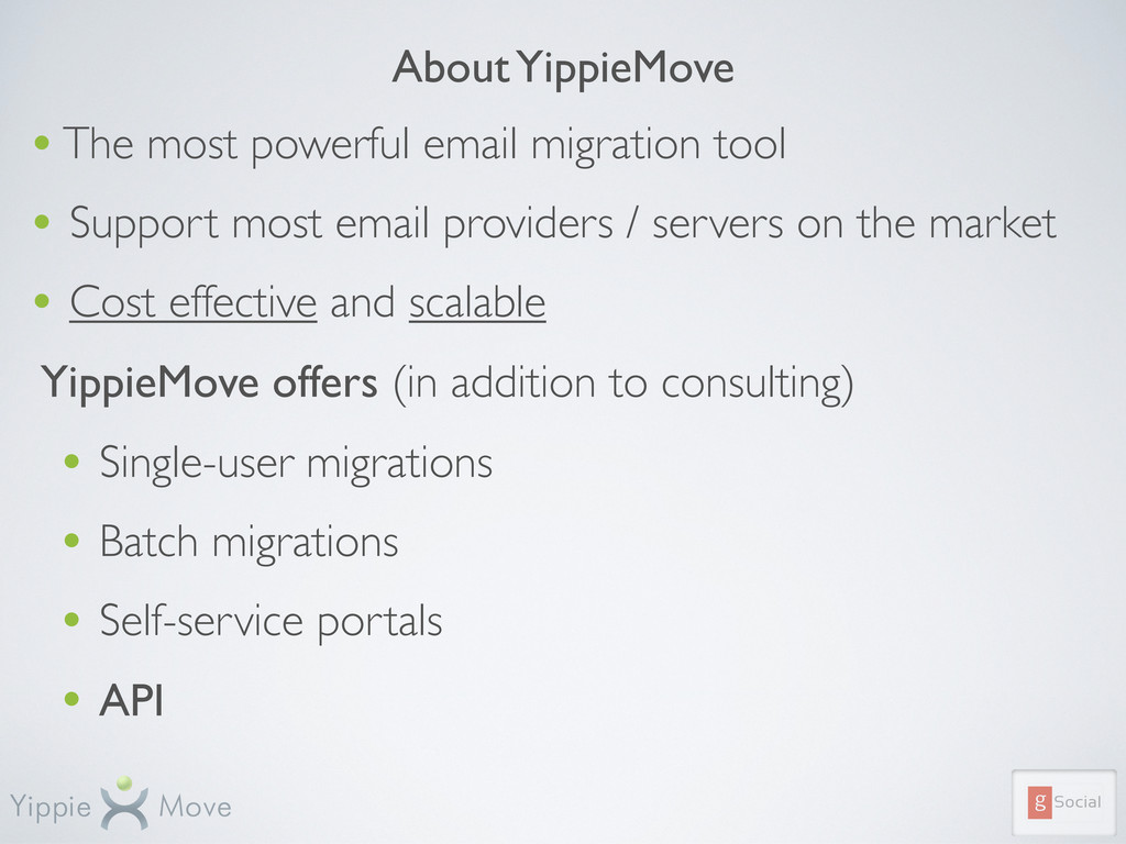 About YippieMove • The most powerful email migr...