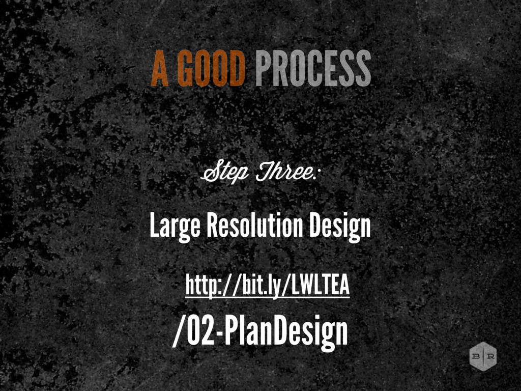 Large Resolution Design A GOOD PROCESS Step Thr...