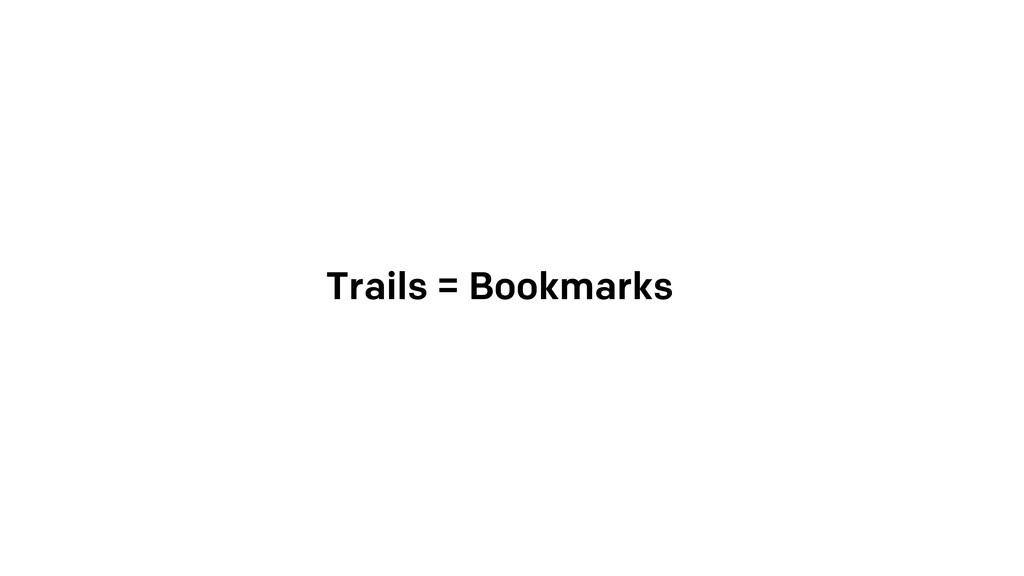 Trails = Bookmarks