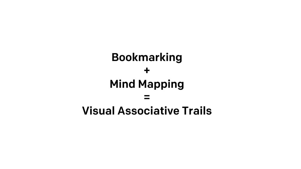Bookmarking + Mind Mapping = Visual Associative...