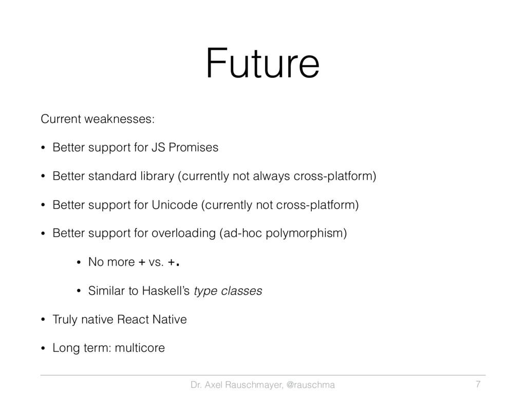 Dr. Axel Rauschmayer, @rauschma Future Current ...
