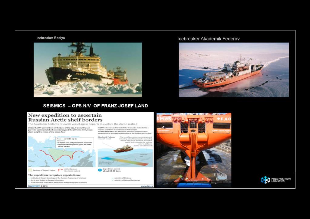 SEISMICS – OPS N/V OF FRANZ JOSEF LAND Icebreak...