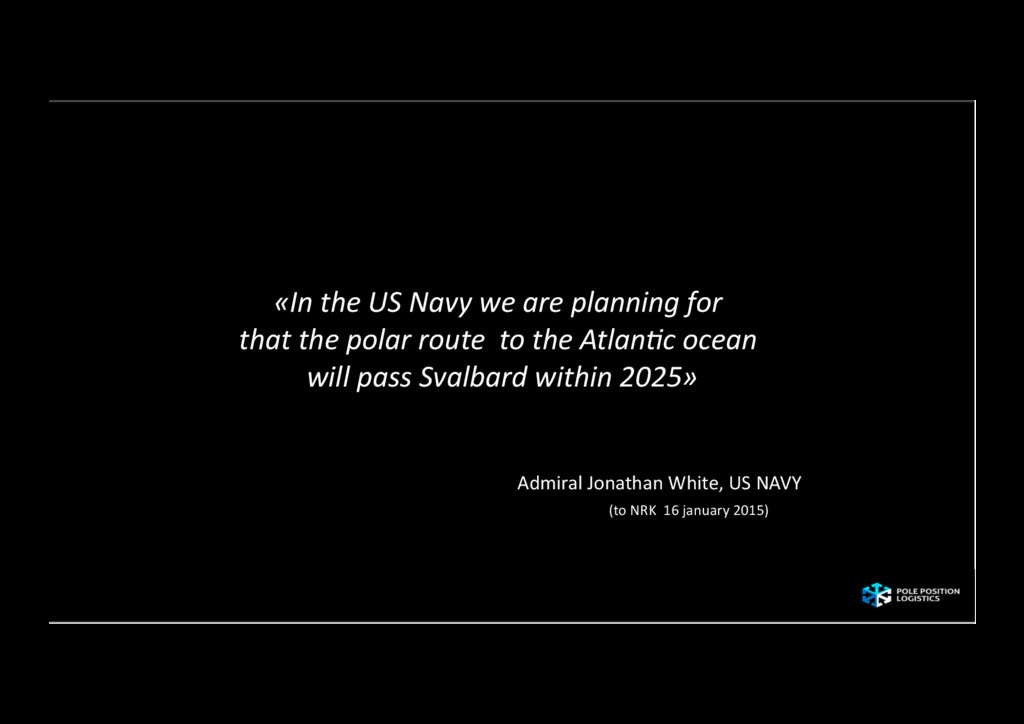 «In the US Navy we are planni...