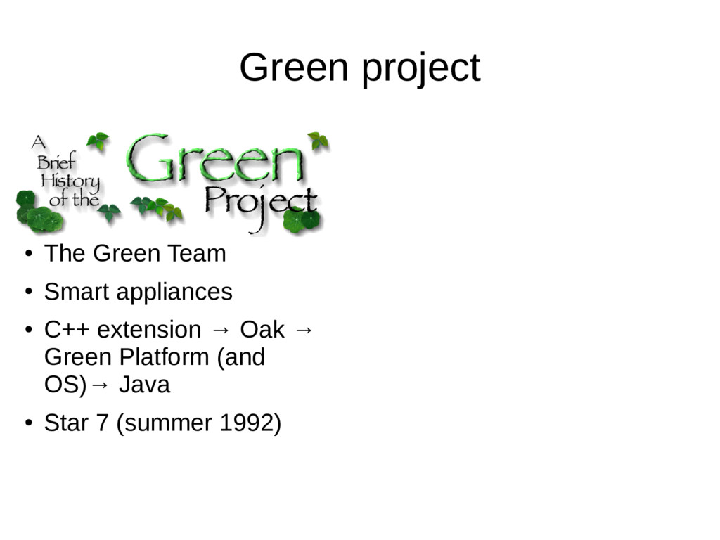 Green project ● The Green Team ● Smart applianc...