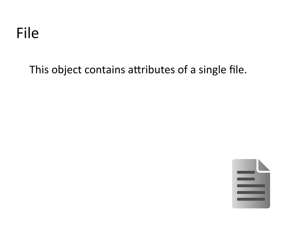 File  This object contains anribute...