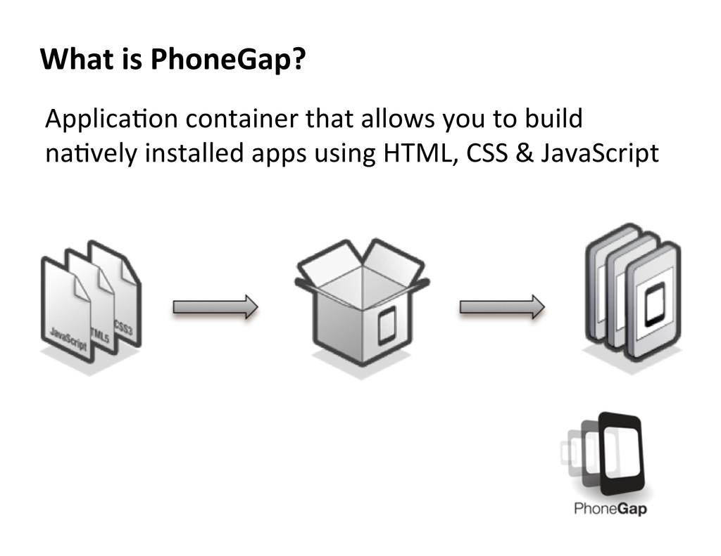 ApplicaAon container that allows yo...