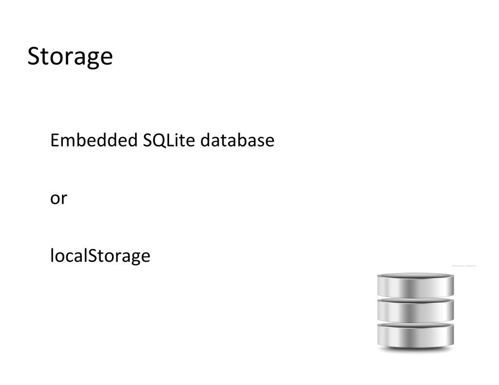 Storage  Embedded SQLite database  ...