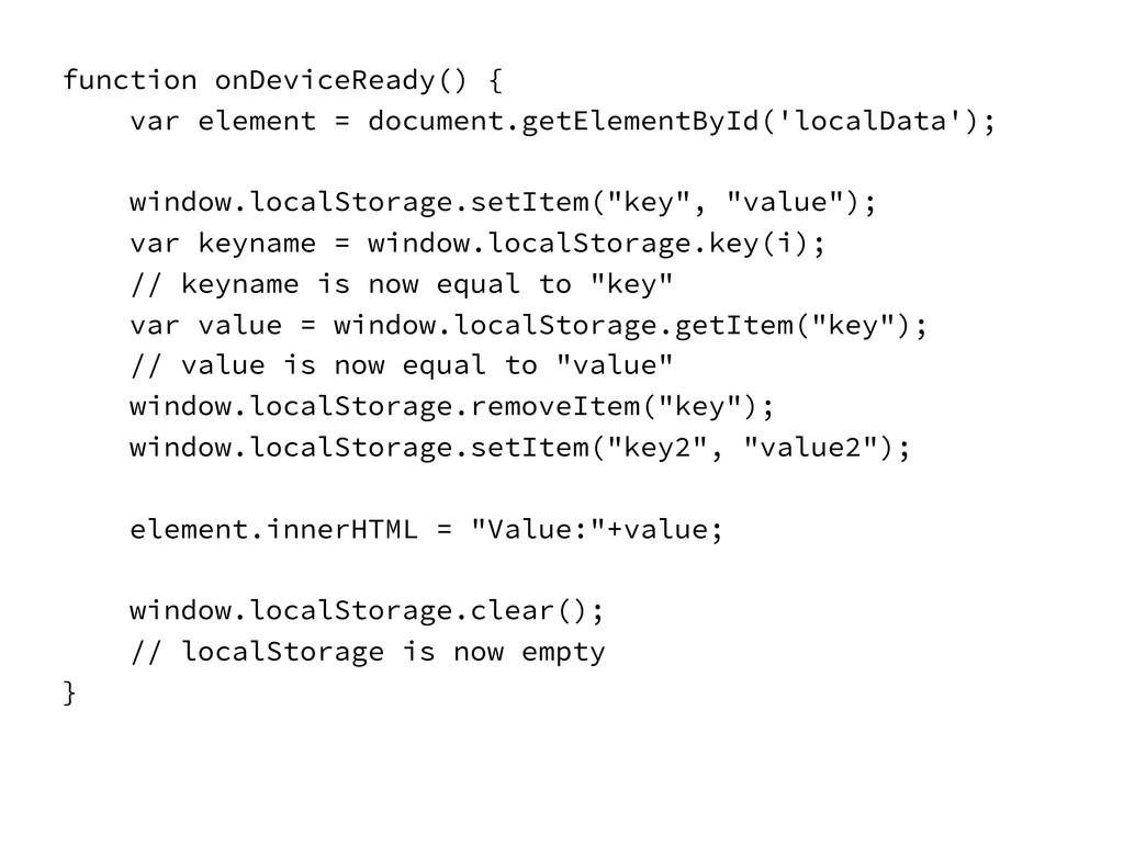 function onDeviceReady() { var element = docum...